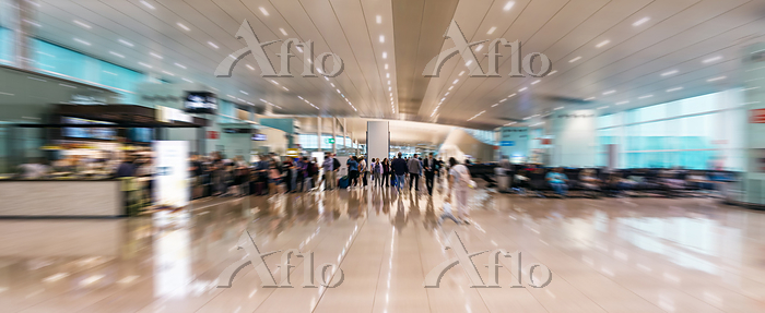 airport interior with motion b・・・