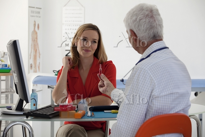 Woman in consultation