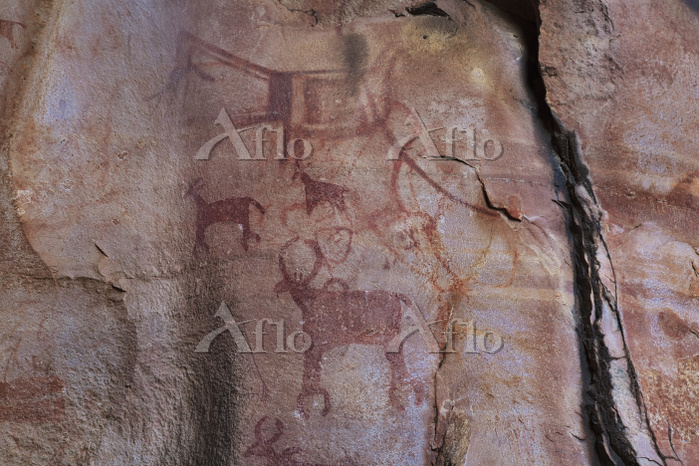インド ビンベットカ 岩窟壁画 ロック・シェルター No.3