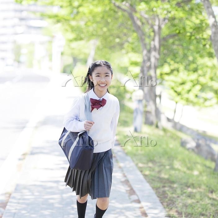 日本人の女子中学生