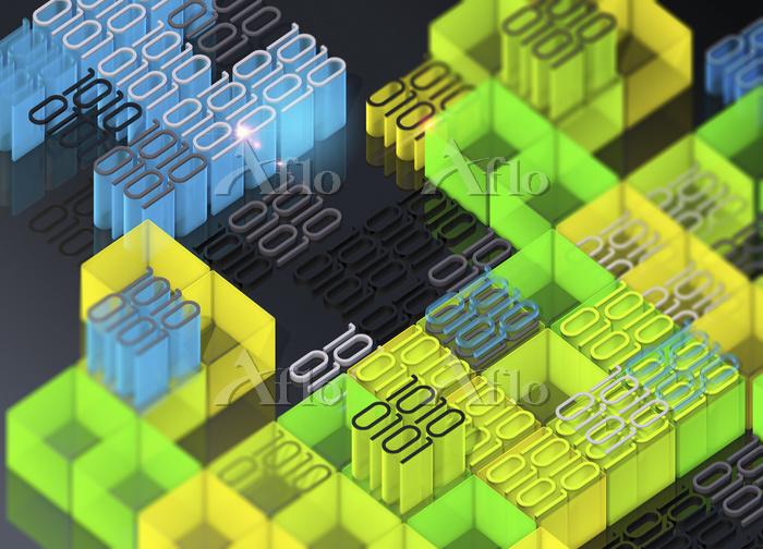 Blocks of brightly coloured bi・・・