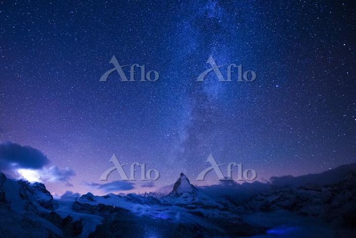 スイス マッターホルン 星