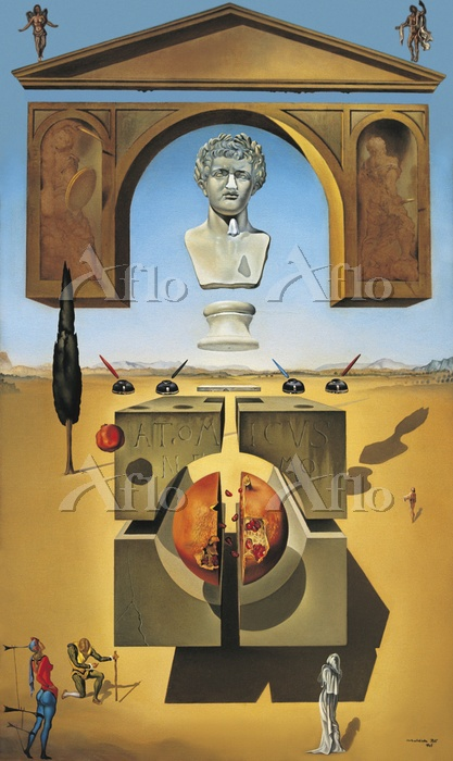 サルバドール・ダリ 「ネロの鼻の近くの脱物質化」