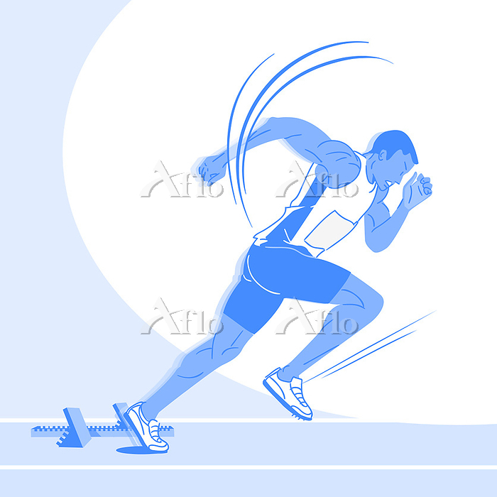 Sports Athletes silhouette ill・・・