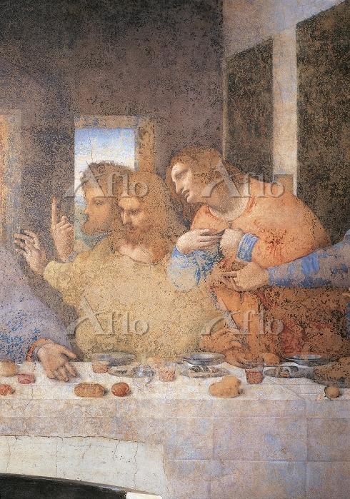 レオナルド・ダ・ヴィンチ 「最後の晩餐」(部分)