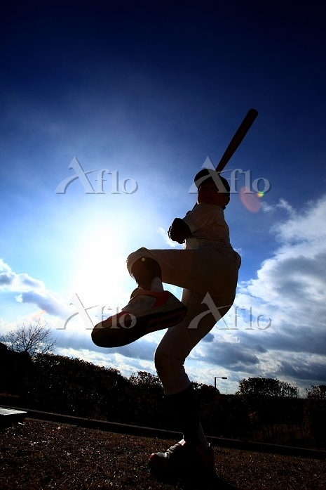 野球を練習する子供