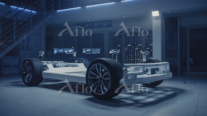 Electric car concept standing ・・・