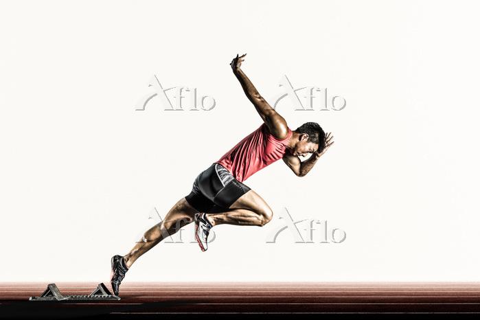 短距離走の陸上競技選手