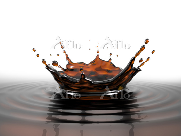 Liquid coffee crown splash in ・・・