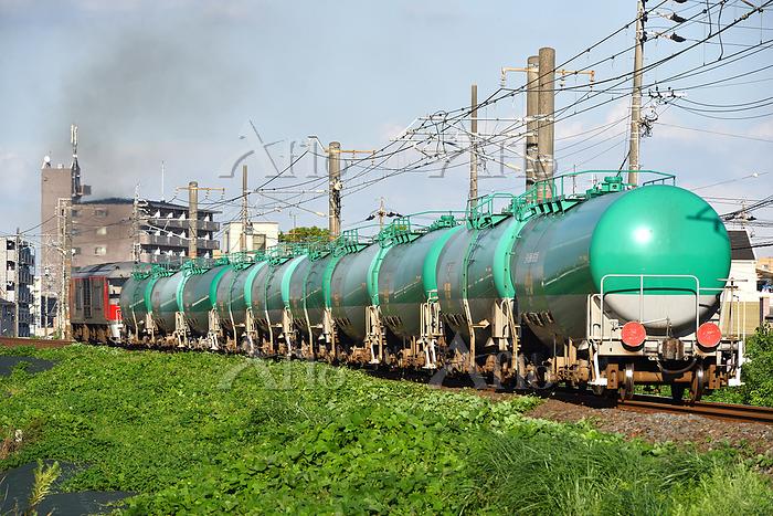 愛知県 関西本線 DF200牽引貨物列車(後追い)