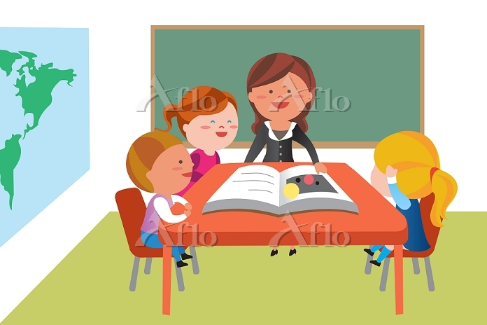 students, and, teacher, in, th・・・