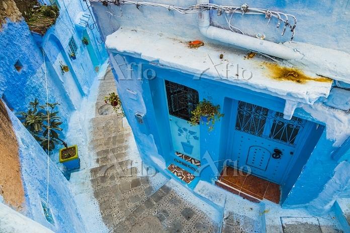 モロッコ シャウエン 路地