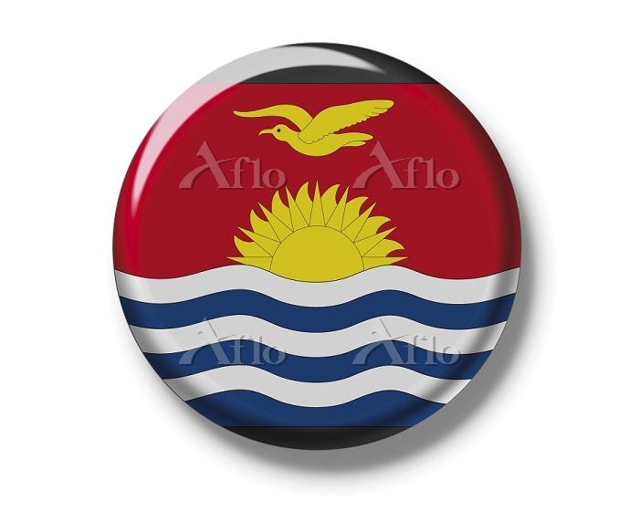 Button, flag of Kiribati