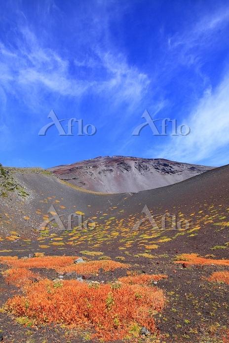 静岡県 富士山 宝永第二火口底より見る第一火口