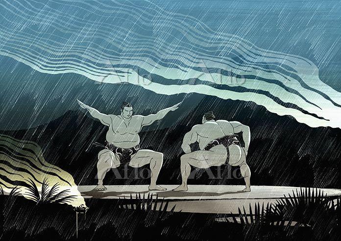 Sumo wrestlers / Nick Purser