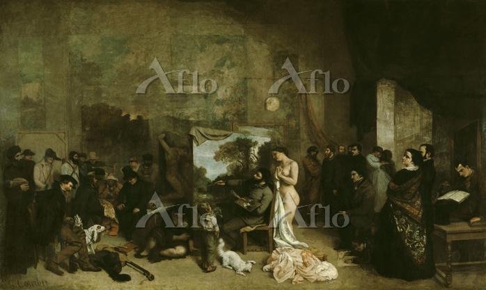 ギュスターヴ・クールベ「画家のアトリエ」