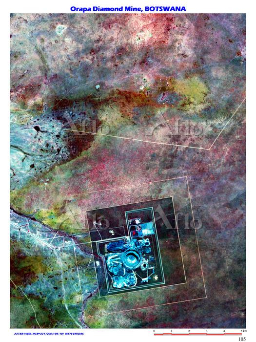 オラパ鉱山 ボツワナ共和国 ボテティ準地区 オラパ