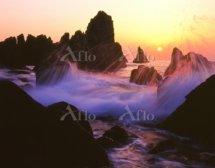 福井県 福井市 越前海岸の夕日