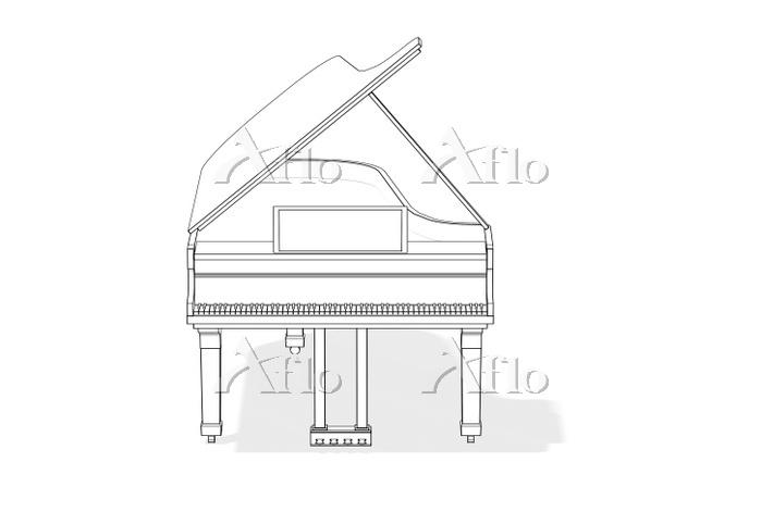 線画のピアノ