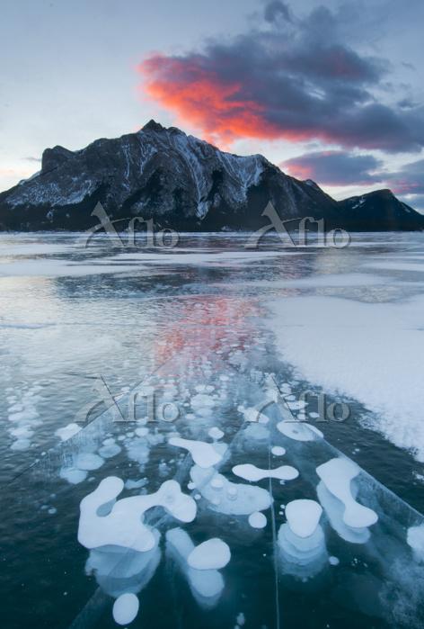 カナダ 冬のアブラハム湖
