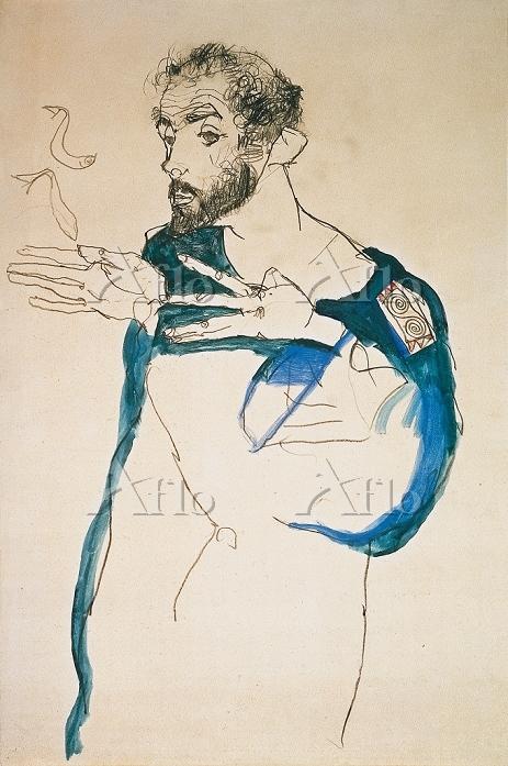 エゴンシーレ 「クリムトの肖像」