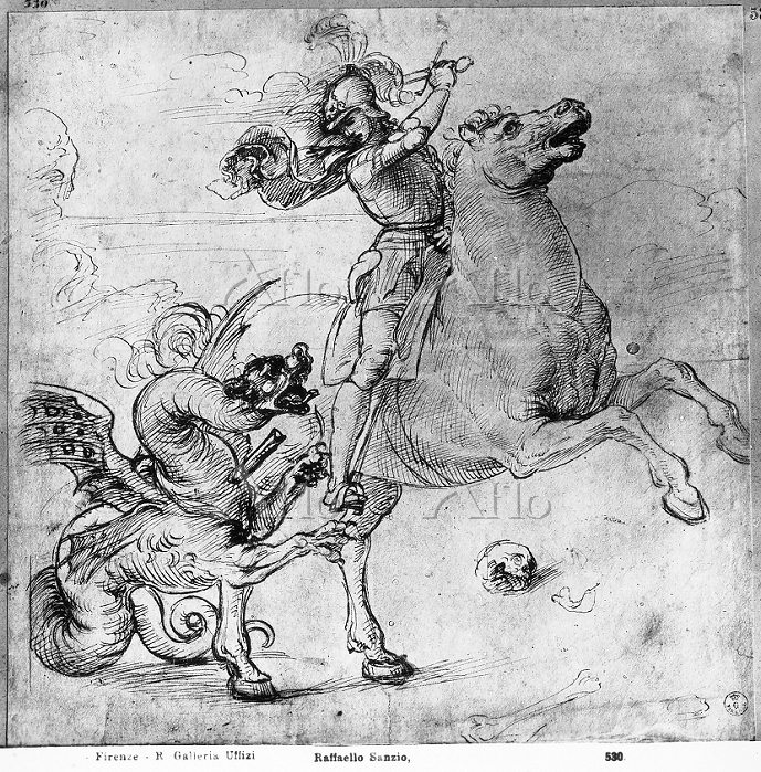 ラファエロ 「聖ゲオルギオスとドラゴン」