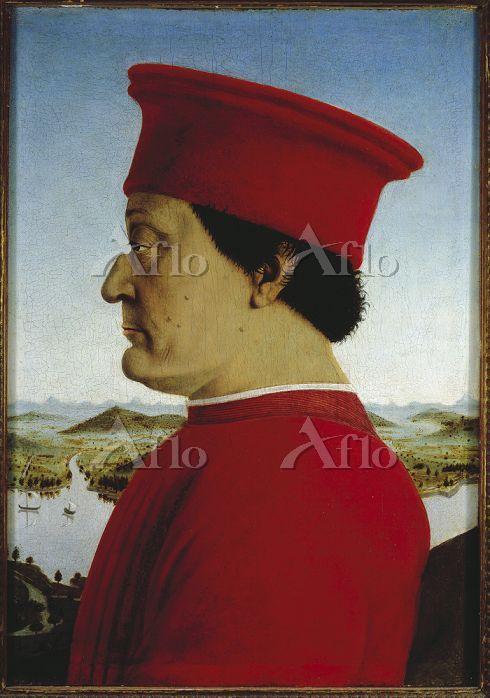 ピエロ・デラ・フランチェスカ 「ウルビーノ公夫妻の肖像(フェ・・・