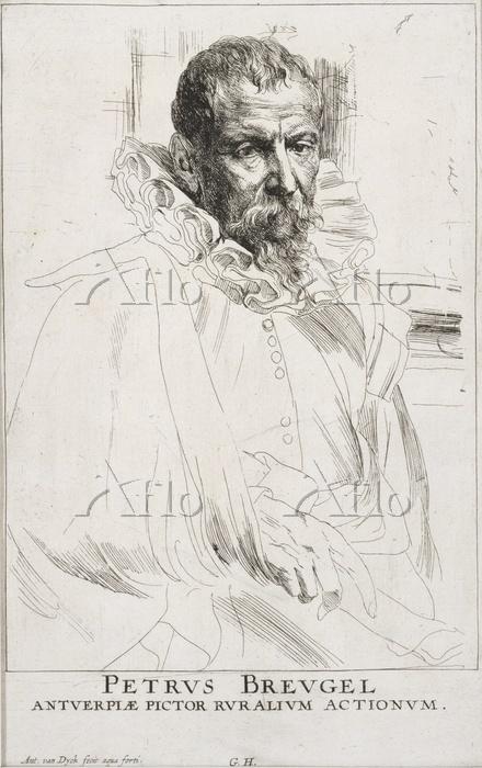 アンソニー・ヴァン・ダイク「ピーテル・ブリューゲル2世の肖像・・・