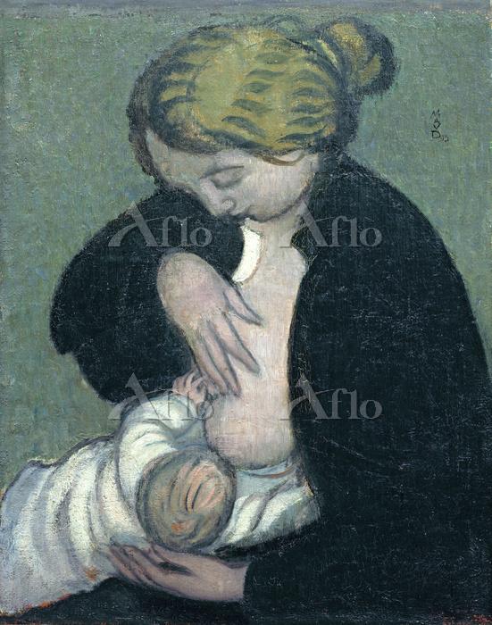 モーリス・ドニ 「黒いブラウスを着た母親」