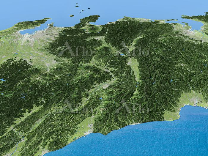 日本海側から見たフォッサマグナ周辺