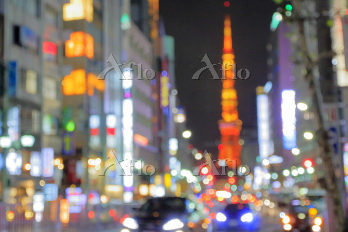 東京都 六本木夜景のボケイメージ
