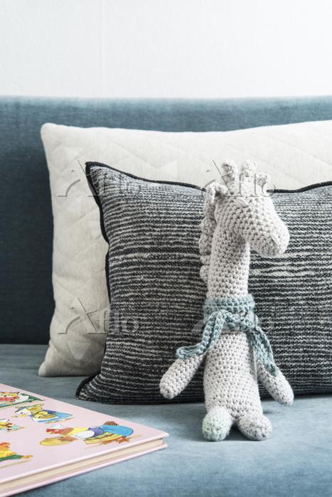 A crocheted giraffe