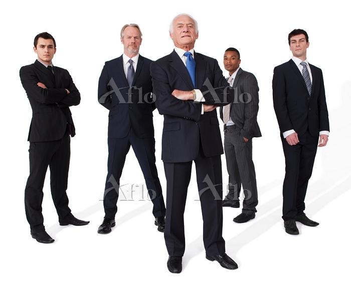 外国人男性のビジネスグループ