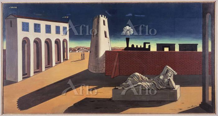 ジョルジョ・デ・キリコ 「イタリア広場 アリアドネの目覚め」