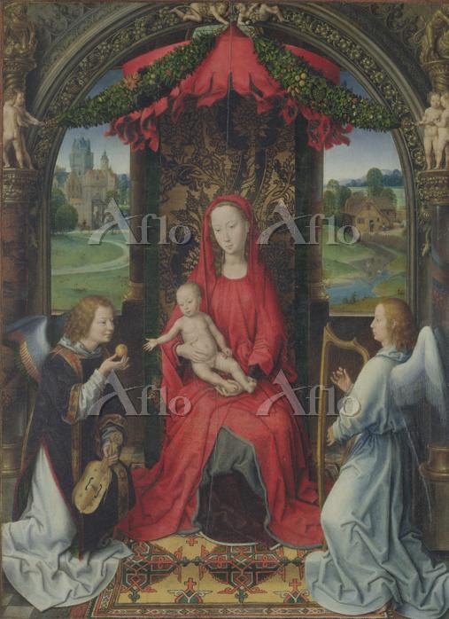 ハンス・メムリンク 「2人の天使を伴う聖母子」