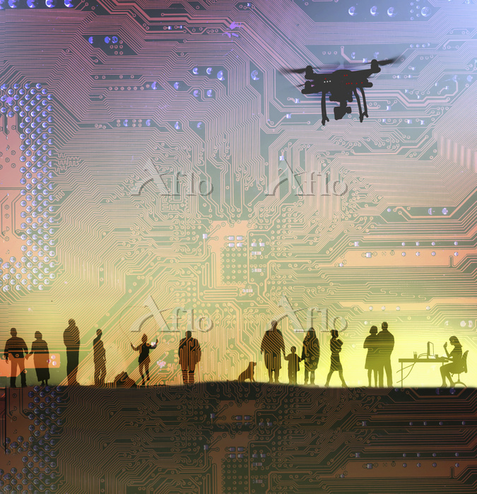 Drones spying on people's ever・・・