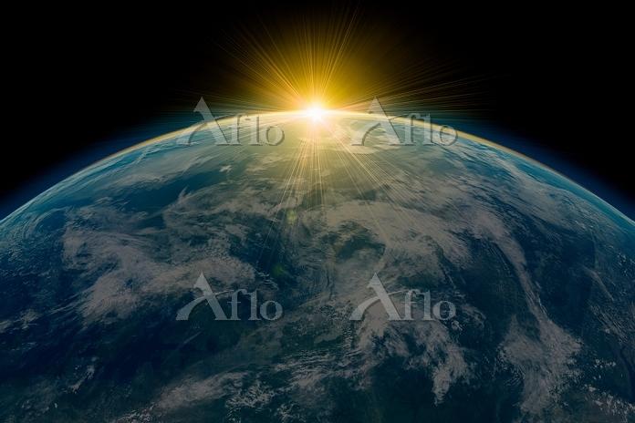 夜明けの地球