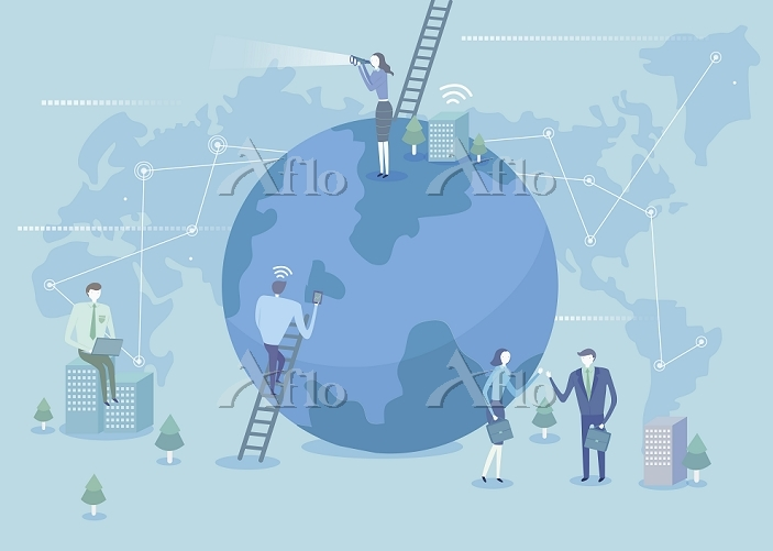 Successful business with world・・・