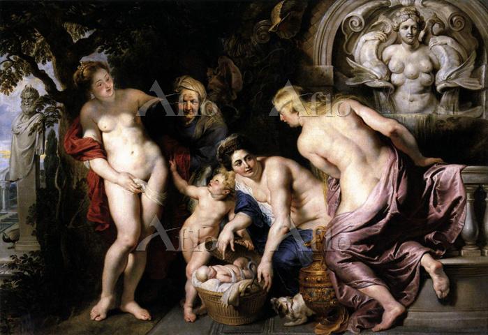 ルーベンス「エリクトニオスを発見するケクロプスの娘たち」