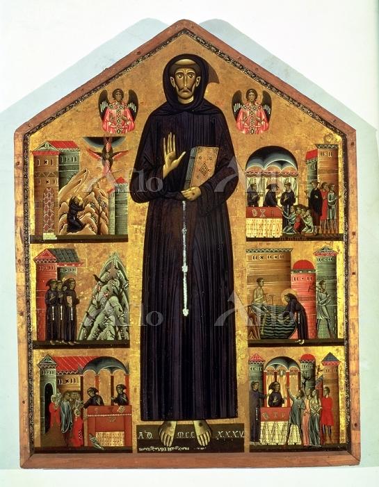 ベルリンギエーリ 「聖フランチェスコとその生涯」