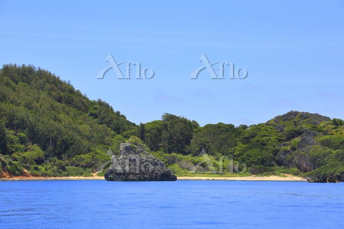 東京都 小笠原諸島 父島 観光船から望む南島瀬戸とジョンビー・・・