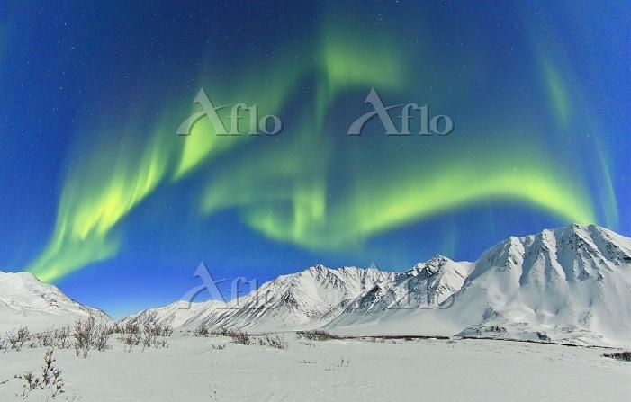 アメリカ合衆国 オーロラ アラスカ ブルックス山脈
