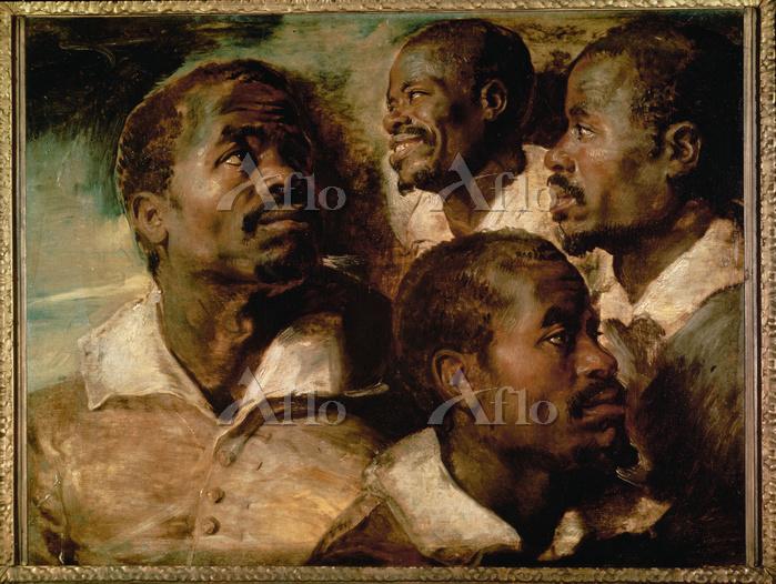 ルーベンス 「黒人の頭部の4つの習作」