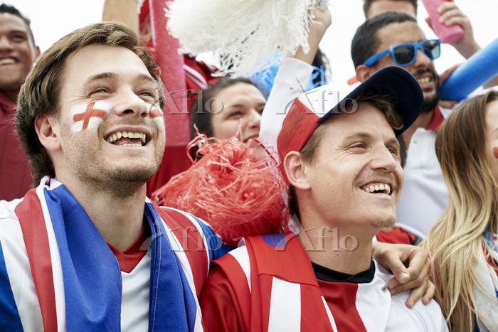 イギリスを応援するファン