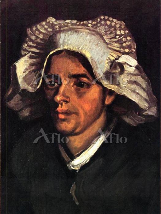 ゴッホ「白い帽子をかぶった農婦の顔」