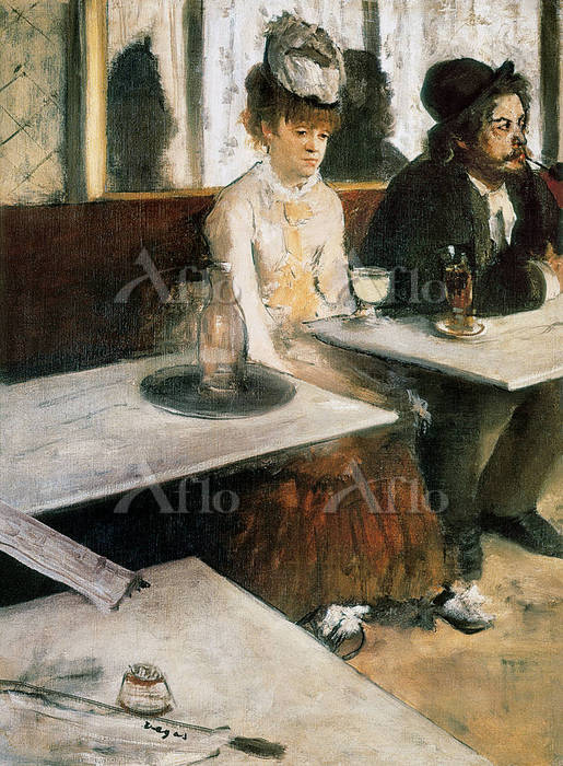 ドガ  「アプサントを飲む人(カフェにて)」