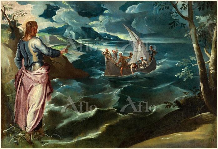 ティントレット 「ガリラヤ湖のキリスト」