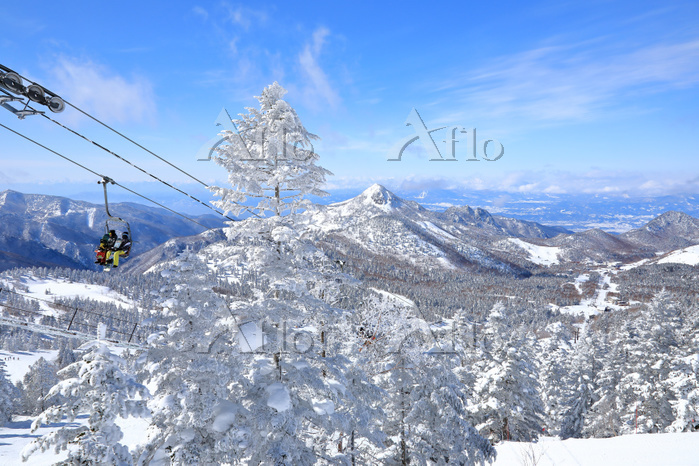 長野県 志賀高原 横手山から望む笠ヶ岳