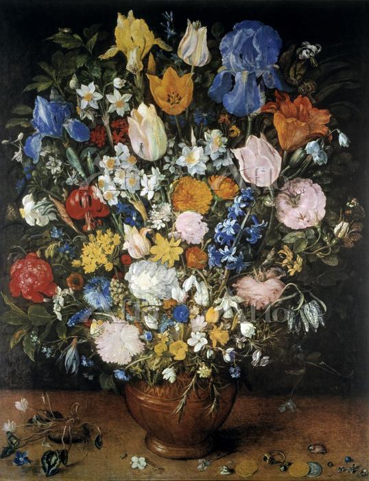 ヤン・ブリューゲル 1世「アイリスのある花束」