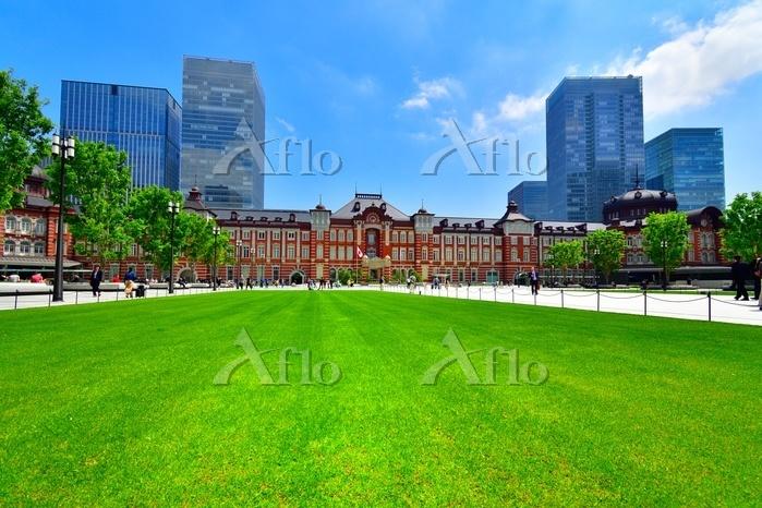 春から初夏の東京駅